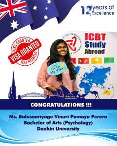 Congratulations Miss: Vinuri